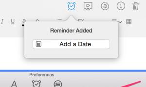 Evernote reminder